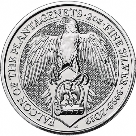 2019 Falcon of the Plantagenets 2oz Silver Coin-Queens Beast Series